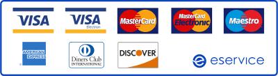 Obsługujemy wszystkie karty płatnicze